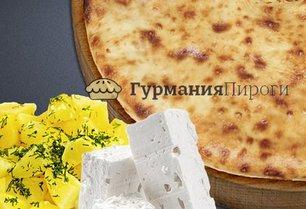 Осетинский пирог с сыром и картошкой