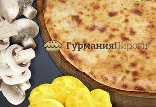 Постный осетинский пирог с картошкой и грибами