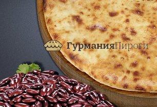 Постный осетинский пирог с фасолью