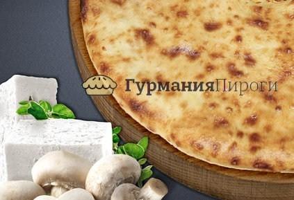Осетинский пирог с грибами и сыром