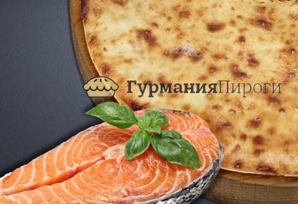 Осетинский пирог с сёмгой