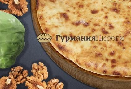 Постный осетинский пирог с капустой и орехами