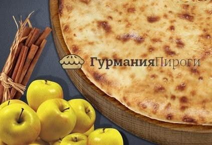Сладкий осетинский пирог с яблоками и корицей