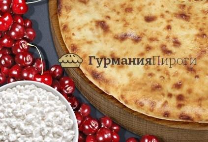 Сладкий осетинский пирог с творогом и вишней